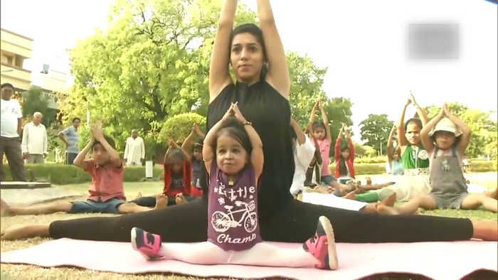 World's tiniest woman practices Yoga in Nagpur ahead of International Yoga Day