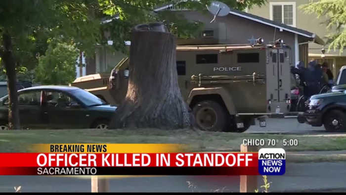 Sacramento officer shot, killed in standoff
