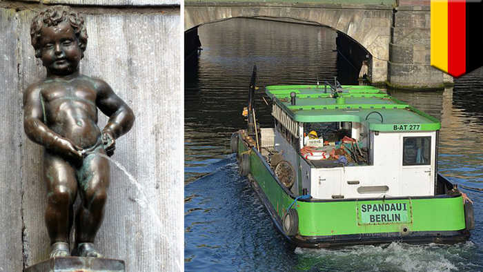 Man tinkling off bridge causes injuries on Berlin tour boat