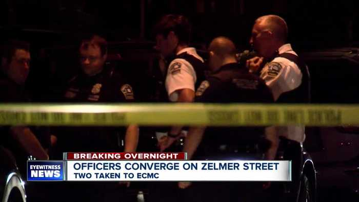 Buffalo police converge on Zelmer Street, two transported to ECMC