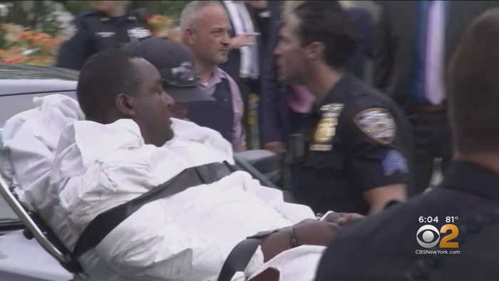 Staten Island Man Charged With Murder Taken On Stretcher From Court