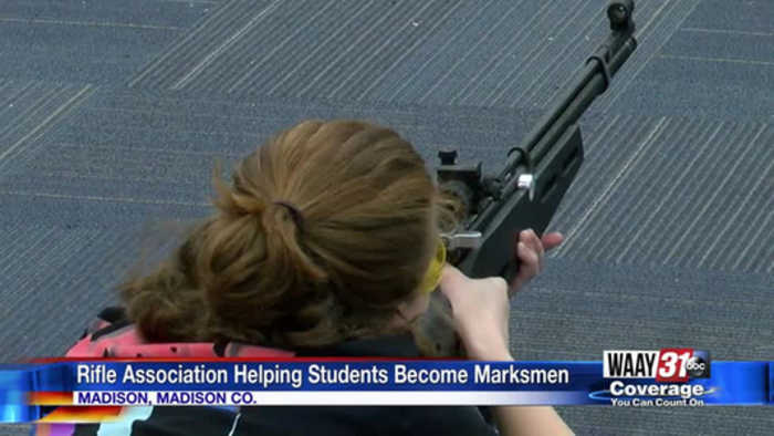 Gift from the National Rifle Association helping Madison students become marksmen
