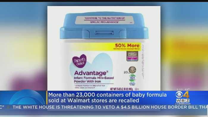 More Than 23,000 Containers Of Baby Formula Sold At Walmart Recalled