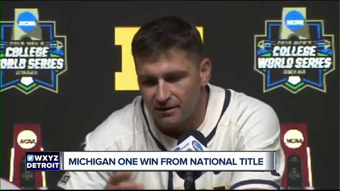 Michigan looks to stay loose with CWS title on the line