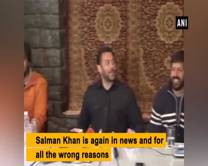 Journalist files complaint against Salman Khan accuses him of assault