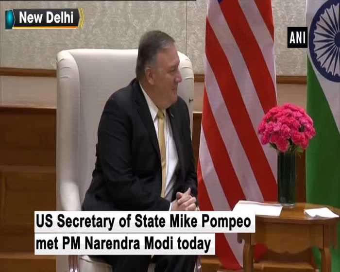US Secretary of State Mike Pompeo meets PM Modi