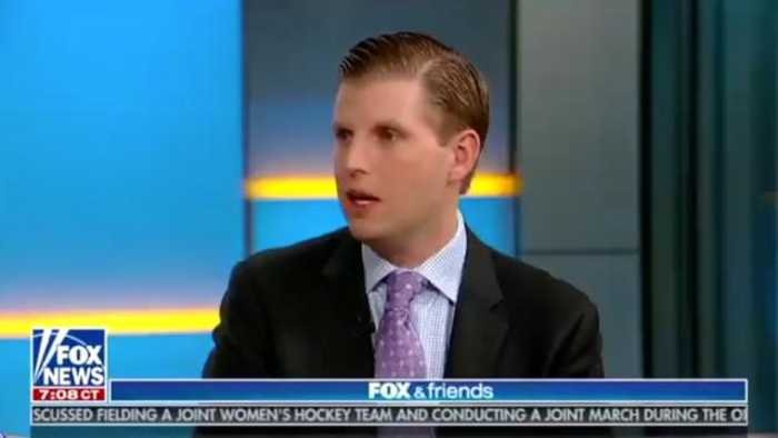 Eric Trump Says A Chicago Bar Employee Spit On Him