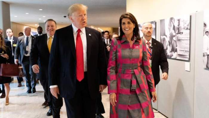 Trump Comments On Possibility Of Swapping Pence For Haley In 2020