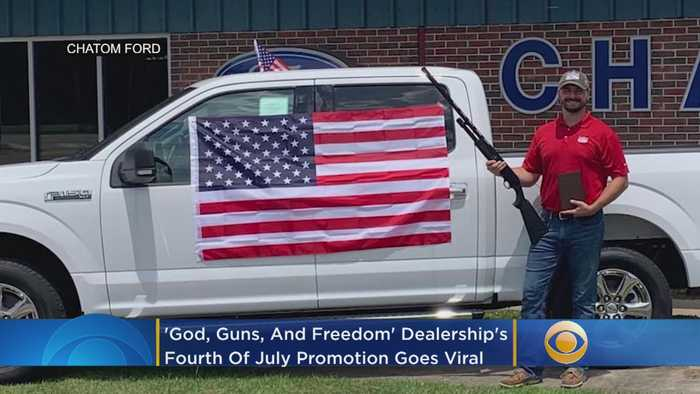 'God, Guns, And Freedom': Car Dealership's Fourth Of July Promotion Goes Viral