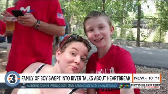 'He oozed life': Mother talks about waiting to find body of 11-year-old son lost in Wisconsin River