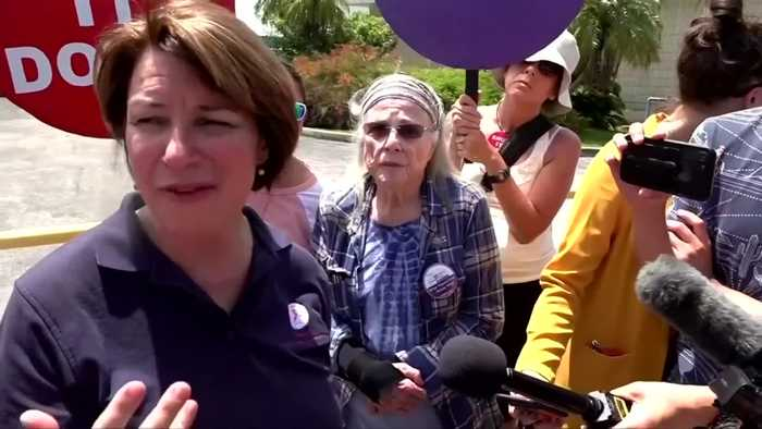 Klobuchar visits Homestead detention facility before debate