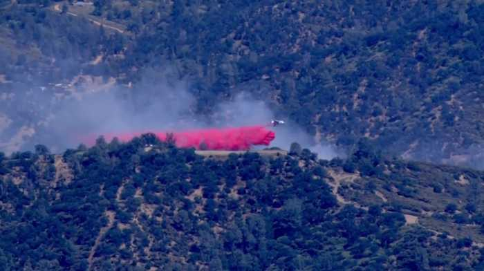 Raw Video: Brush Fire Burns Southwest Of Livermore