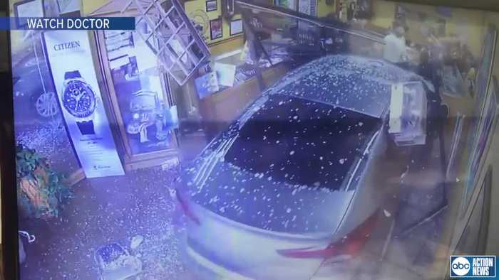 Car smashes into Hillsborough County business