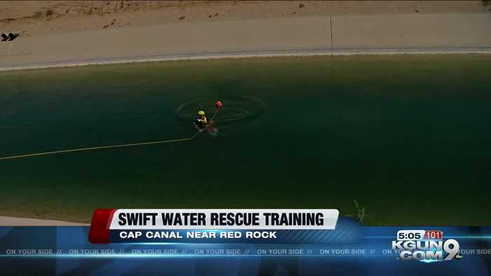 Avra Valley Fire practices swift water rescue for the coming storms