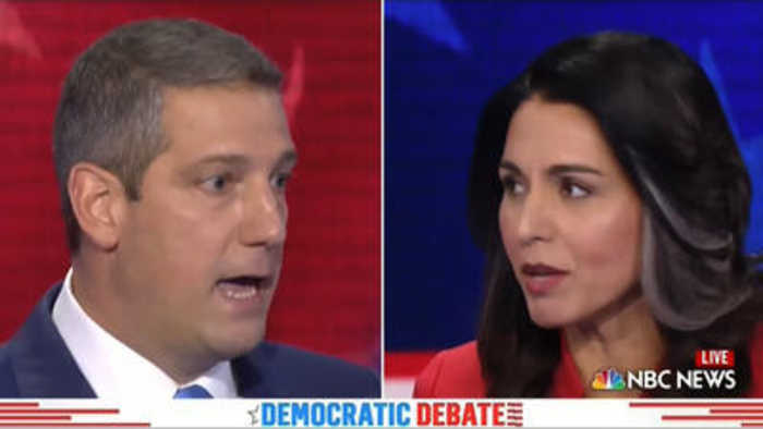 Heated moment with Tulsi Gabbard and Bill de Blasio