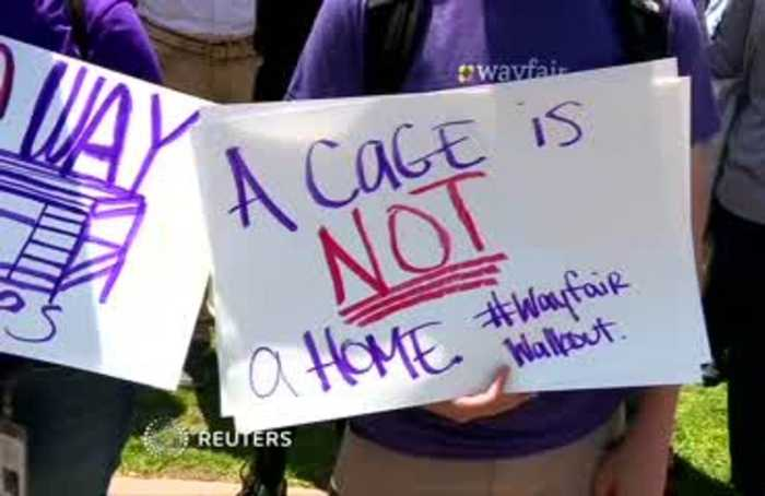 Wayfair workers walk out to protest U.S. migrant camps