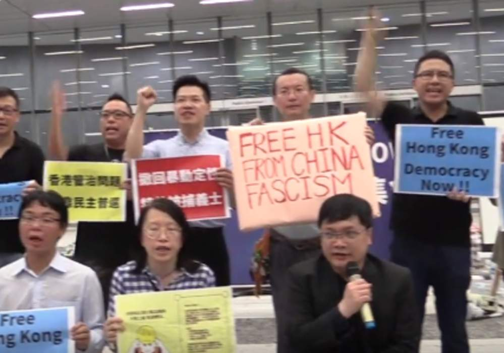Protesters Chant 'Free Hong Kong' at Protest Coinciding With G20 Summit