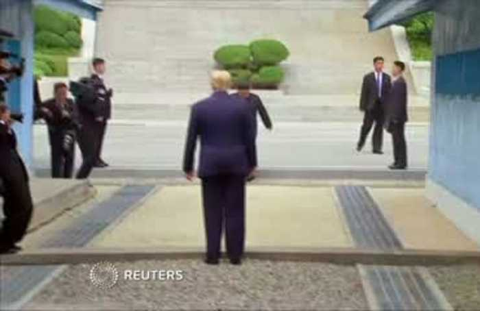 Trump meets Kim, becomes first president to cross DMZ