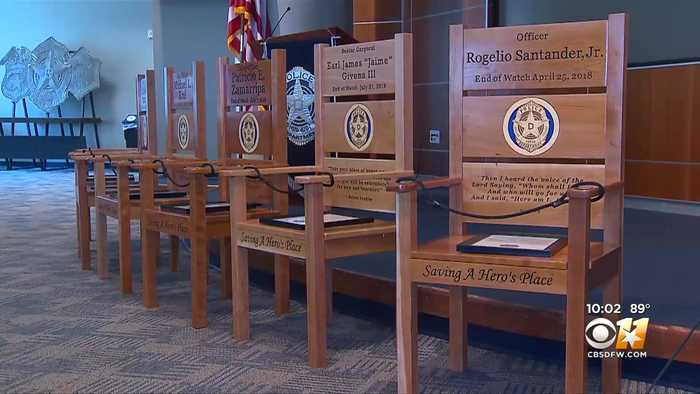 Pieces Of Art To Honor The 5 Fallen Officers Of Dallas' July 7 Ambush Attack