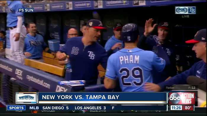 Charlie Morton gets 10th win, Tampa Bay Rays beat New York Yankees 2-1