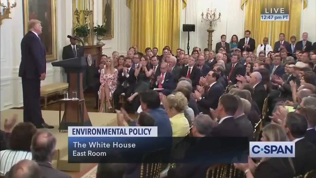 Trump points out that U.S. is out-performing Paris accord members