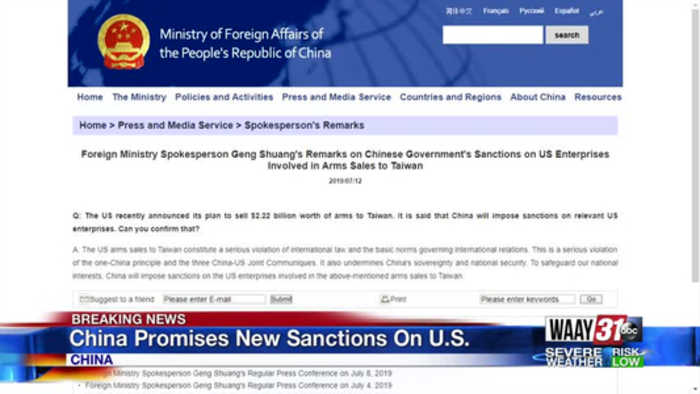 China Promises New Sanctions On US