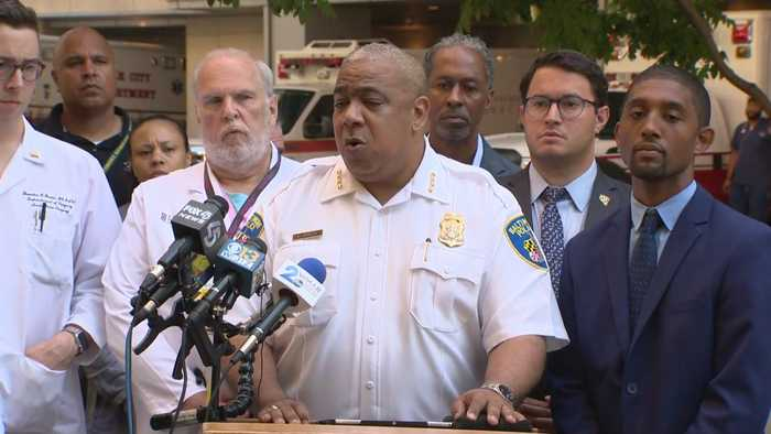 Commissioner Michael Harrison Discusses Officer-Involved Shooting At Baltimore Methadone Clinic