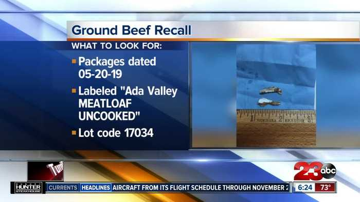 Ada Valley Gourmet Foods recalling ground beef shipped to California due to metal contamination