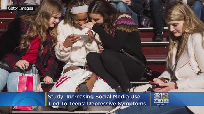 Increasing Social Media Use Tied To Rise In Teens' Depressive Symptoms, Study Says