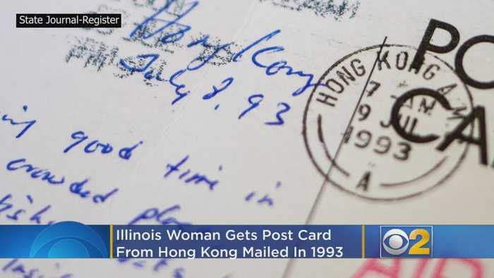 Illinois Woman Gets Postcard From Hong Kong -- Mailed In 1993