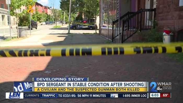 Sergeant shot, suspect dead in shooting at methadone clinic in Old Goucher