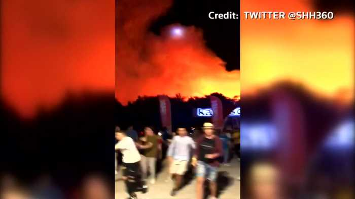 Croatian music festival evacuated as forest fire breaks out nearby