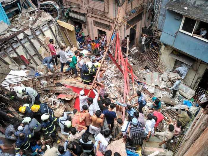 Four-storey building collapses in Mumbai, 50 people feared trapped