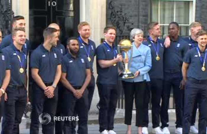 Prime Minister May hosts England's World Cup winners