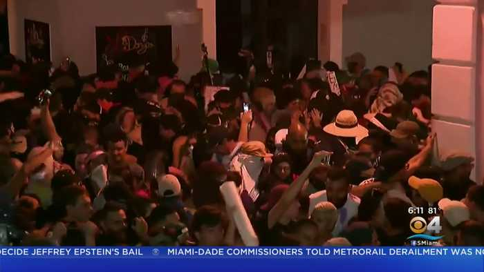 Protesters Clash With Police In Puerto Rico