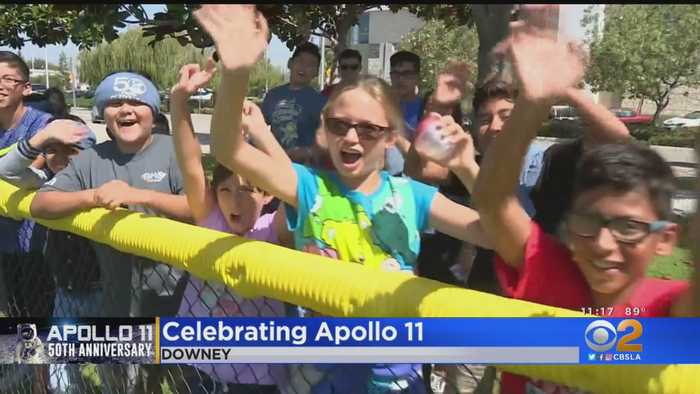 Kids Watch Rockets Launch In Downey On 50th Anniversary Of Apollo 11 Mission