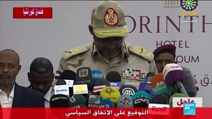 Sudanese military leaders, opposition agree on power-sharing deal