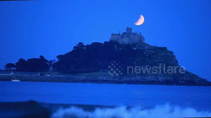 Partial lunar eclipse seen from UK coast on Apollo 11 moon landing anniversary