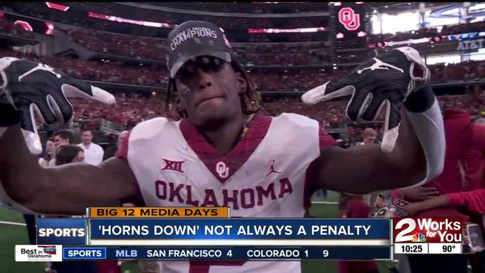 Big 12 official: 'Horns down' not always a penalty