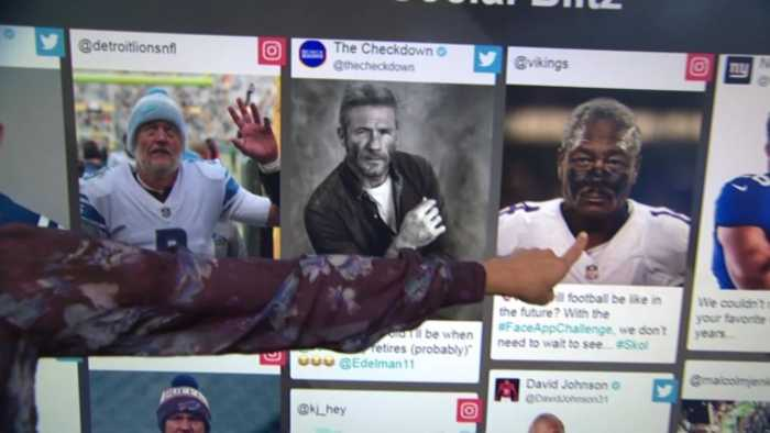 NFL players use FaceApp to age pictures of themselves