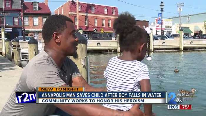 Annapolis man saves child after boy falls in water