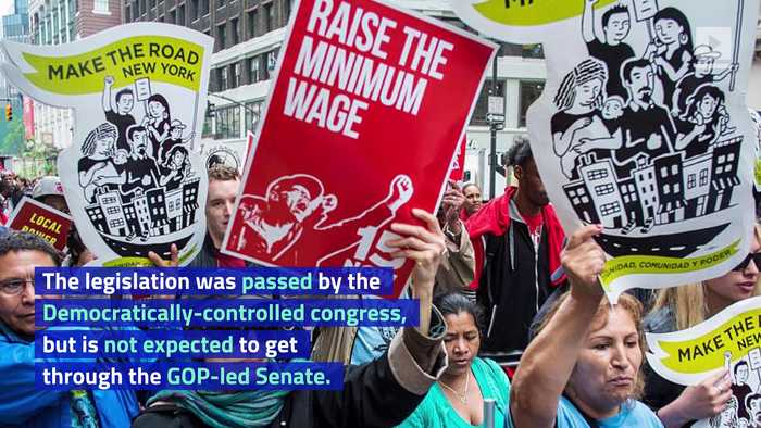 Congress Passes Measure for $15 Per Hour Minimum Wage