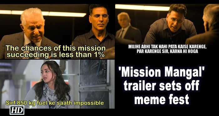 'Mission Mangal' trailer sets off meme fest