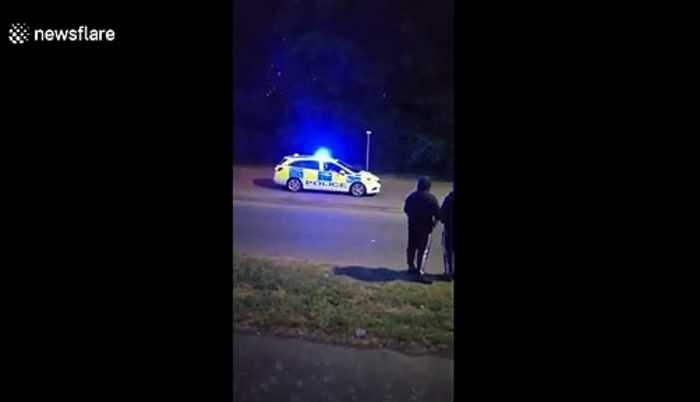 Police filmed 'accelerating quickly' after being egged on by spectators on same road Stevenage crash happened