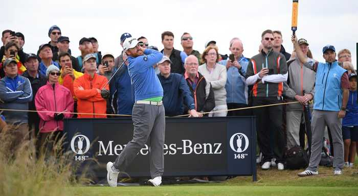 The Open Championship: JB Holmes, Shane Lowry Share Lead After Round Two