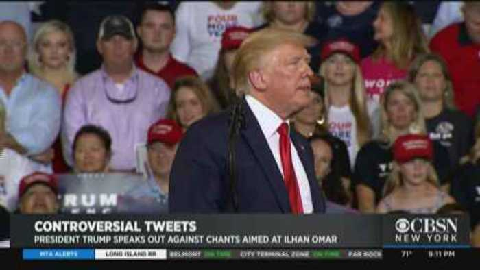 Pres. Trump Disavows Supporters' Chants