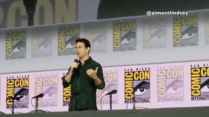 Tom Cruise and Conan O`Brien Surprise Comic-Con Crowd with Top Gun 2 Trailer