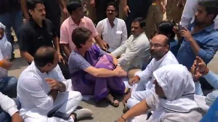 Priyanka Gandhi detained on her way to meet Sonbhadra firing victims
