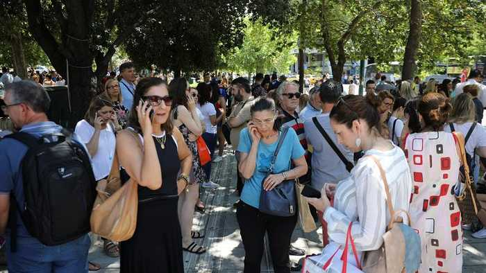 Earthquake hits near the Greek capital, Athens