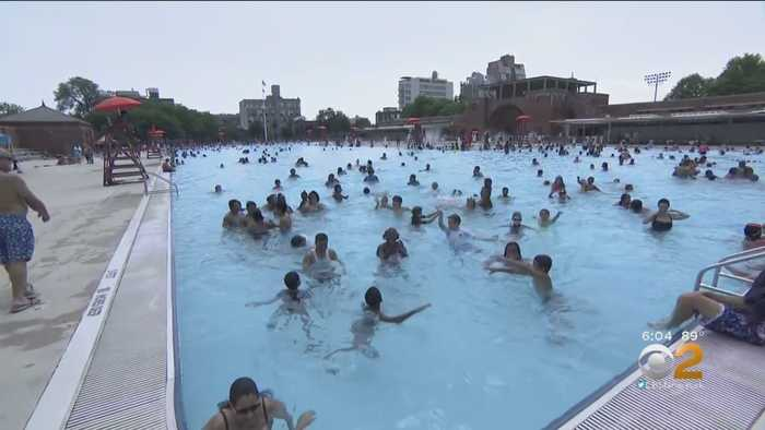 New Yorkers Flock To City Pools To Beat The Heat